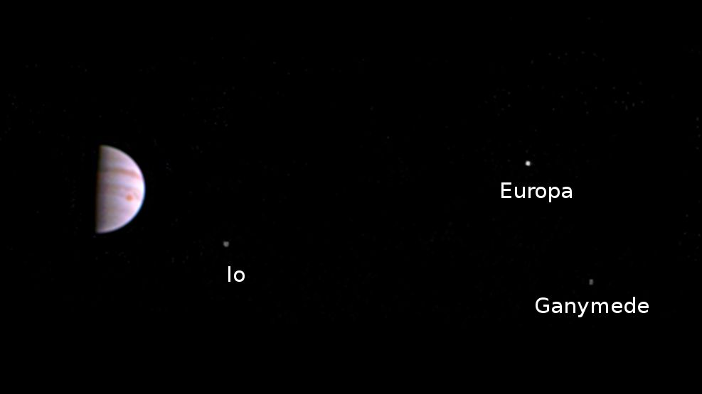 NASA's Juno sends first view from Jupiter orbit
