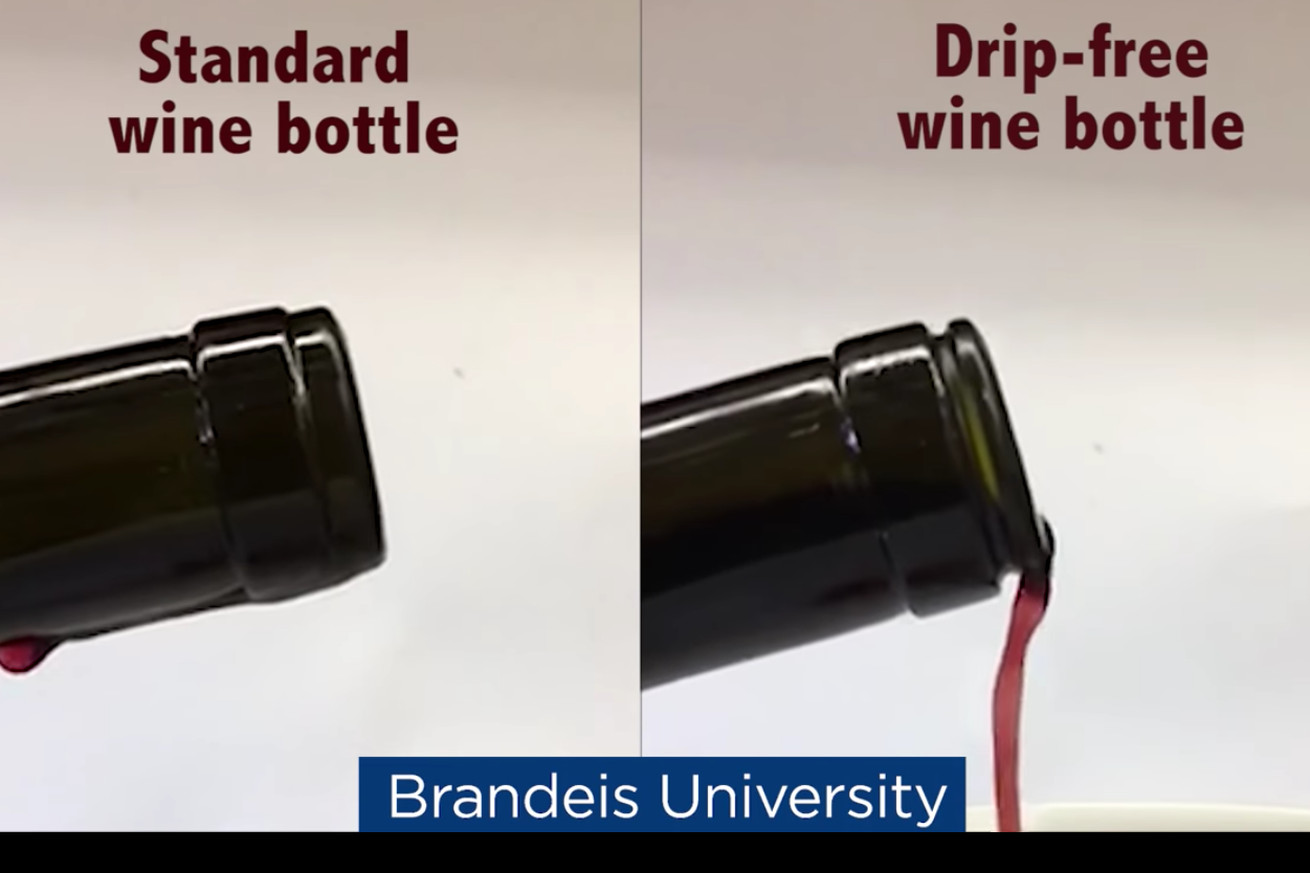 scientists claim to have designed the perfect drip free wine bottle