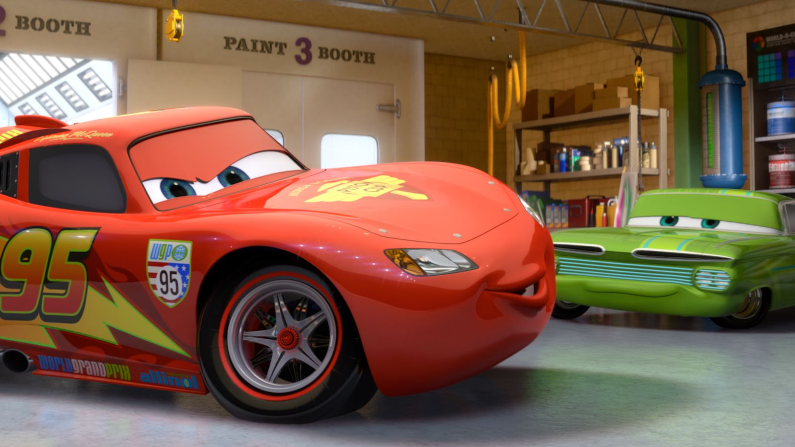 cars 3 extended trailer further explains what happens to lightning mcqueen polygon