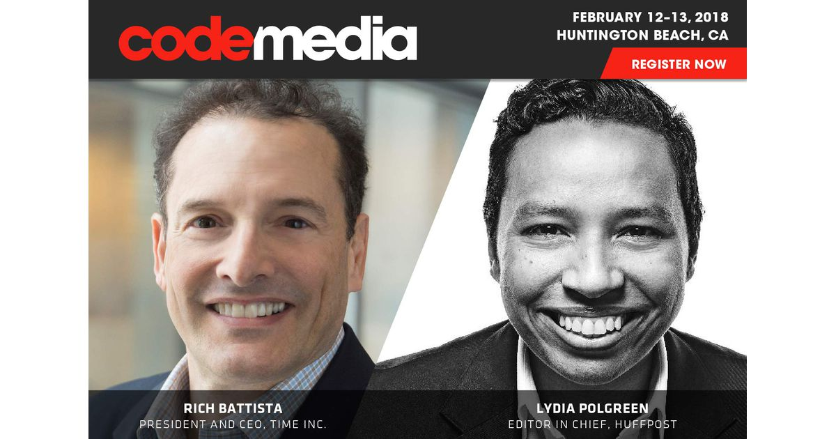photo image HuffPost's Lydia Polgreen and Time Inc.'s Rich Battista are coming to Code Media 2018