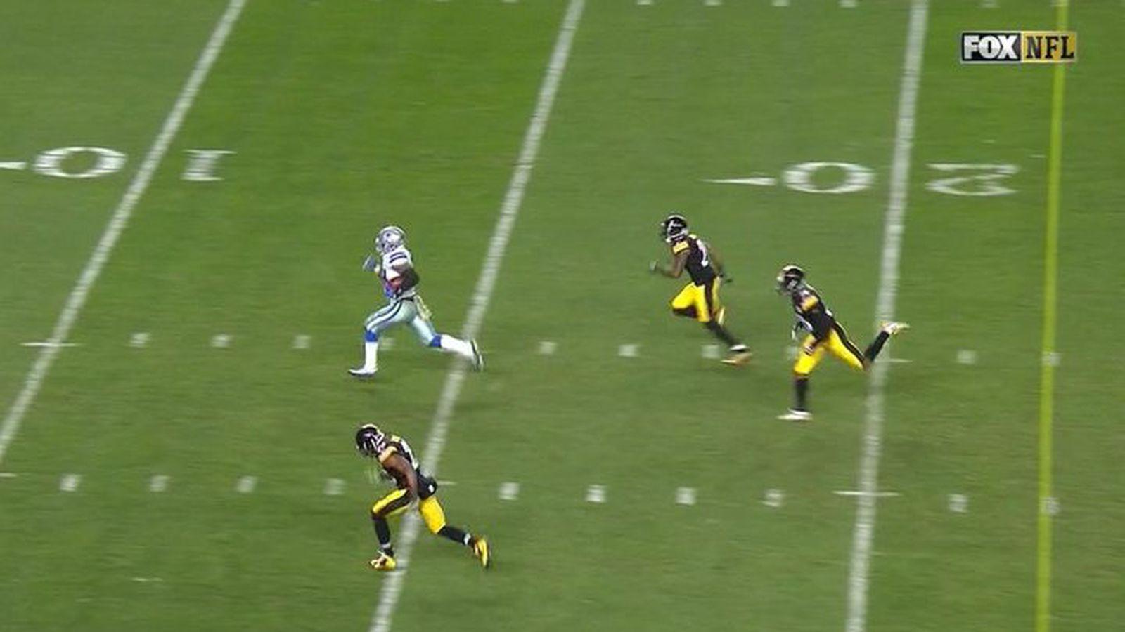 Ezekiel Elliott Breaks The Steelers Hearts With 32 Yard