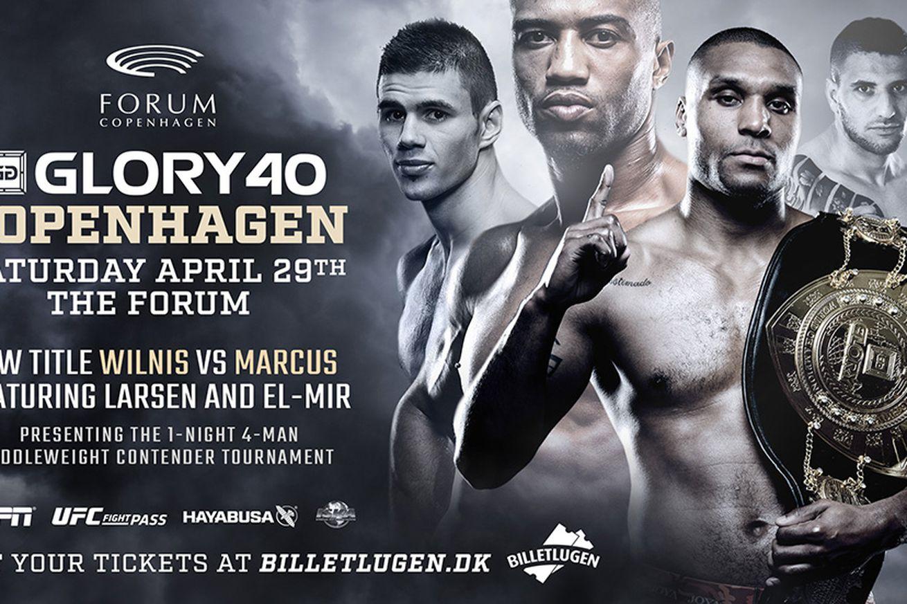 community news, GLORY 40: Jason Wilnis vs Simon Marcus main event set for April 29 in Copenhagen