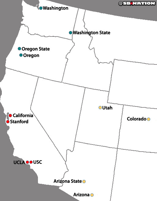 Pac-12_north_and_south