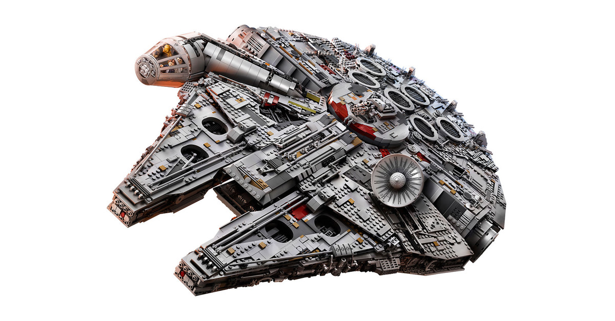The new 7 541 piece lego millennium falcon is the biggest - Vaisseau star wars han solo ...