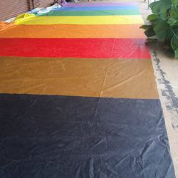 The finished rainbow portion.