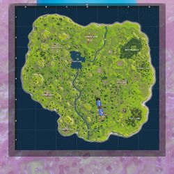 While the map interface is similar, the map itself is very different. Height differences in the landmass are much more dramatic than in <em>Battlegrounds.</em>
