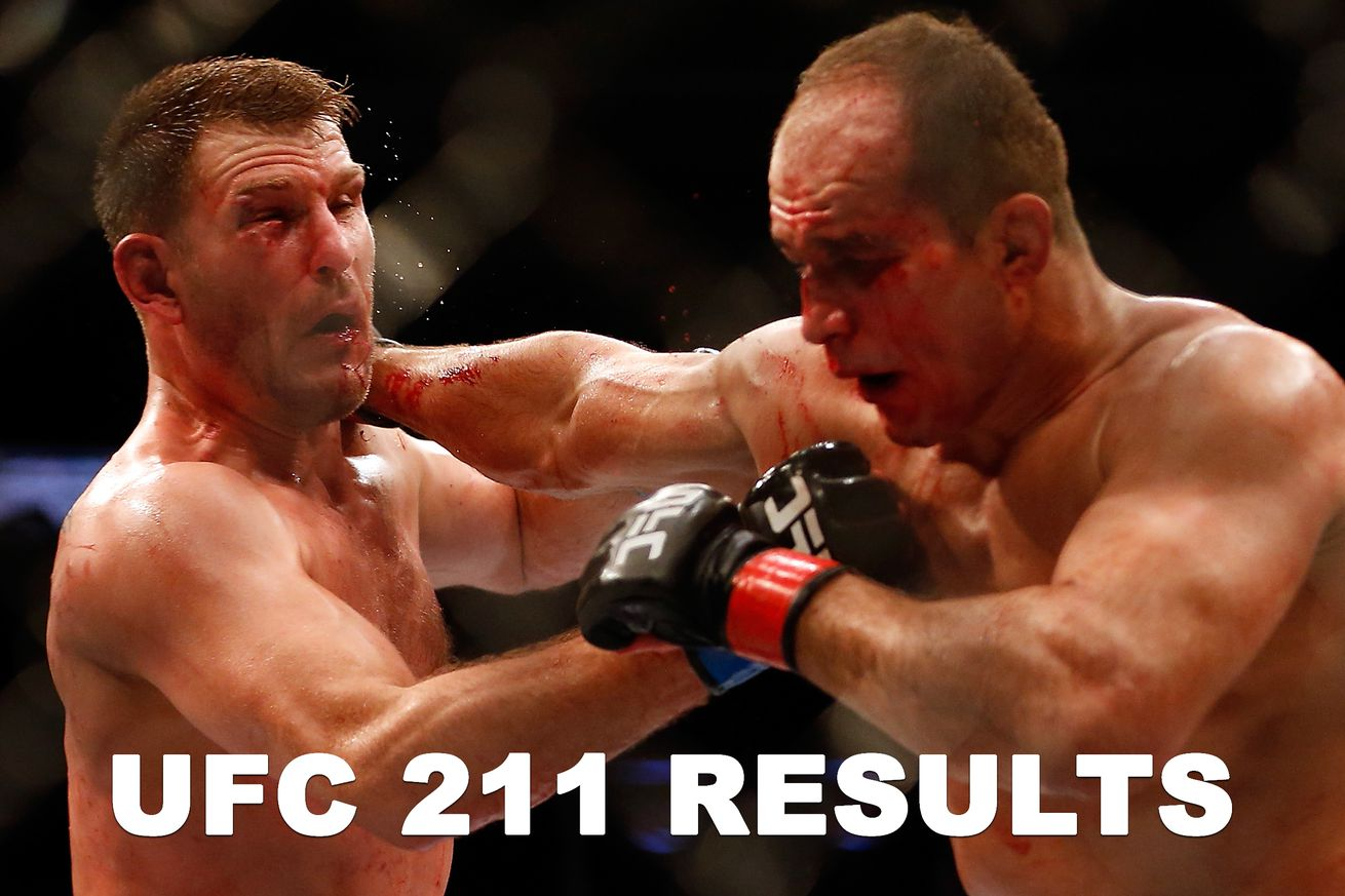 UFC 211 results: Stipe Miocic vs Junior dos Santos live stream play by play updates