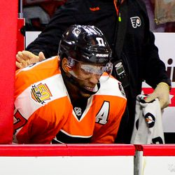 You should be terrified when Wayne Simmonds makes this face...