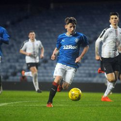 Billy Gilmour surges into the Falkirk box in Rangers 5-1 win over Falkirk