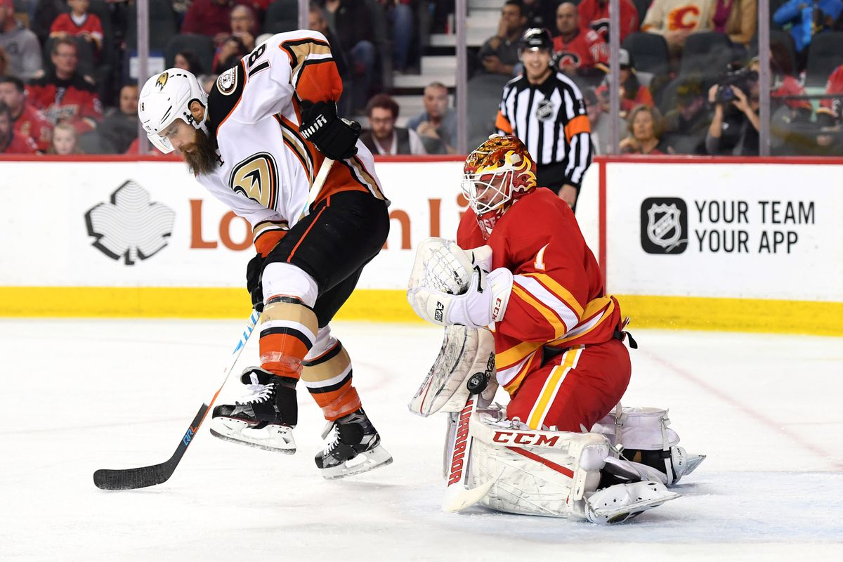 Goaltending intrigue arises for Game 4 of Ducks-Flames playoff series