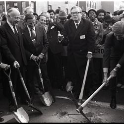 The Second Avenue Subway groundbreaking, which took place on October 27, 1972