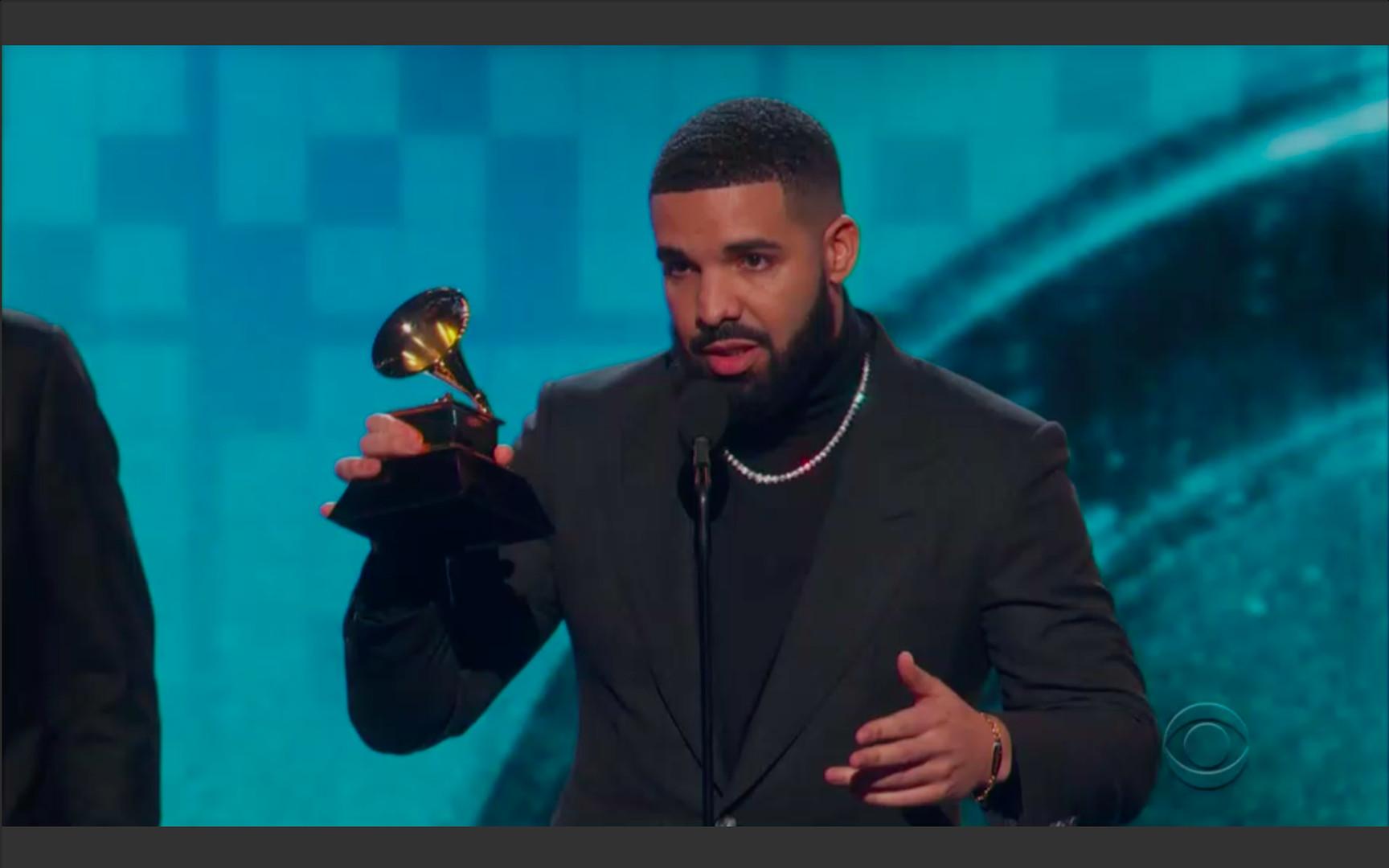 The Grammys cut off Drake's acceptance speech - Vox