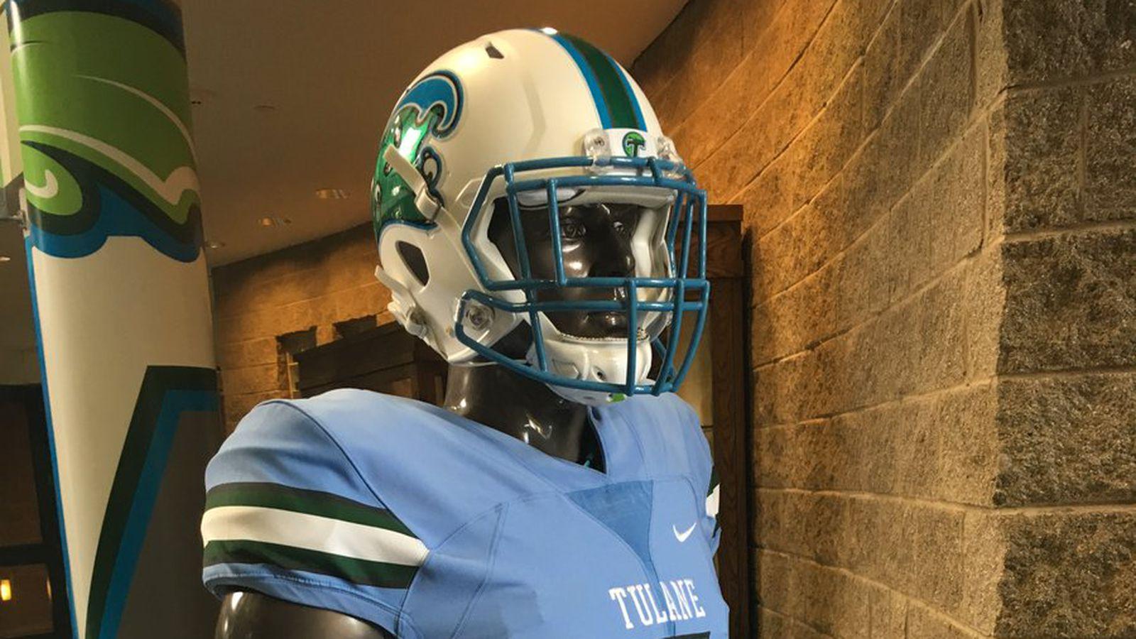 Tulane's set to debut these gorgeous sky-blue uniforms