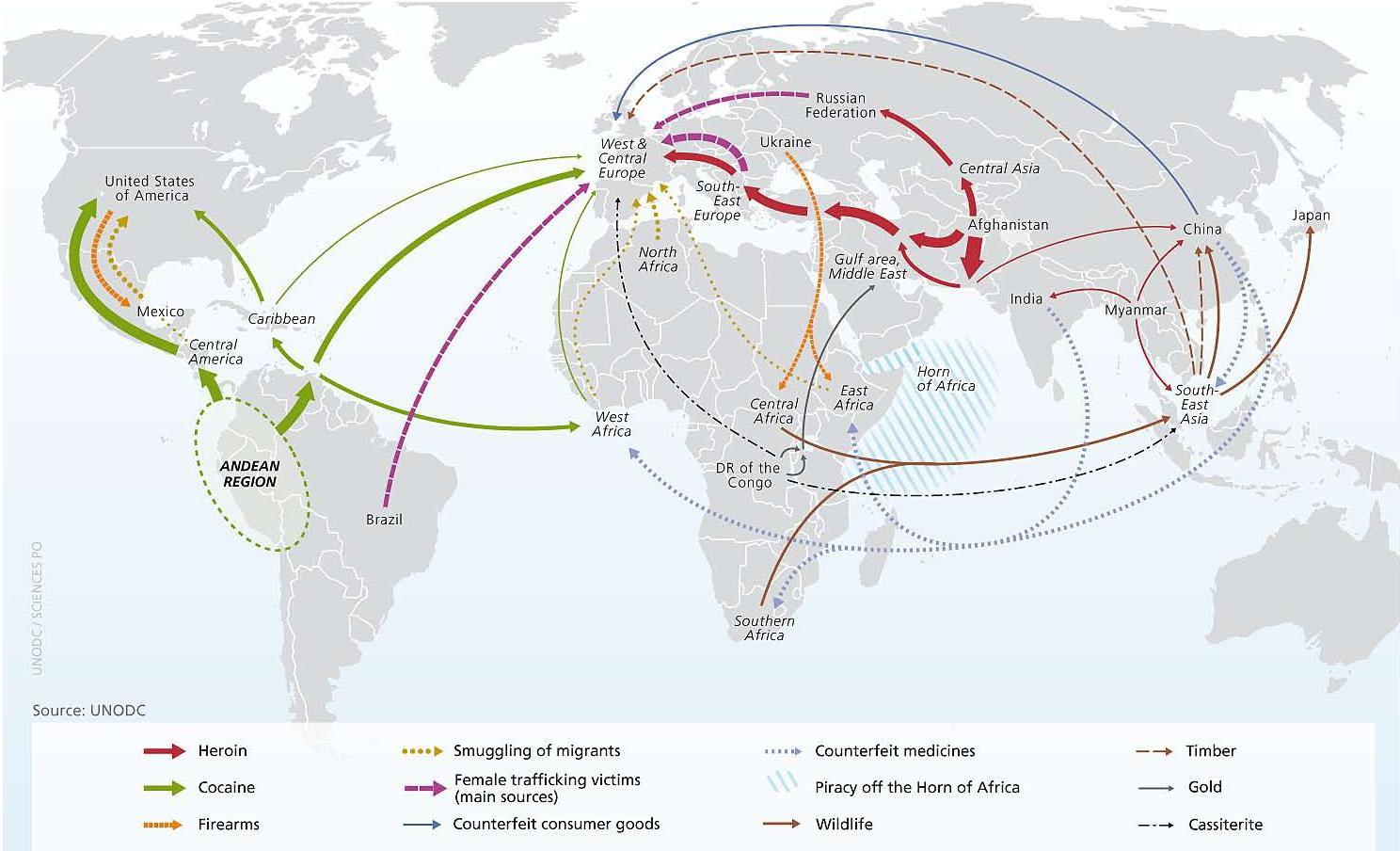UNODC drug maps