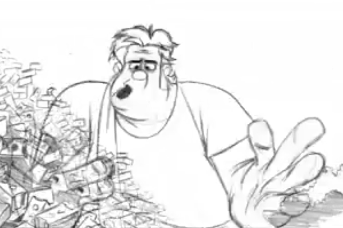 watch this   u0026 39 wreck-it ralph u0026 39  comes to life in hand-drawn test footage