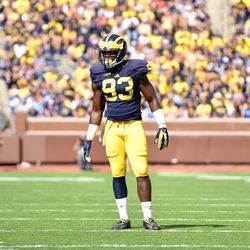 Lawrence Marshall seems to have found his place in this defense, finally. The former four-star prospect out of Southfield, Michigan has added enough weight to handle himself on the strongside, and his long arms help him control blocks and track down ball carriers.