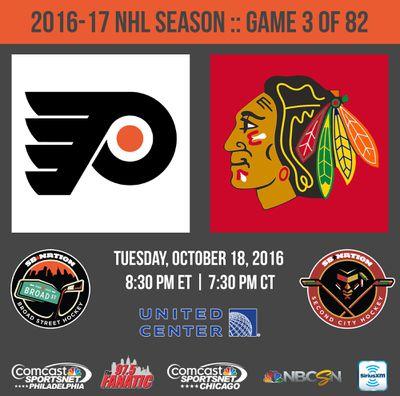 flyers blackhawks october 18 2016