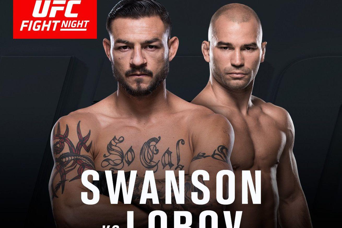 community news, Latest UFC Fight Night 108 fight card, rumors for 'Swanson vs Lobov' on April 22 in Nashville