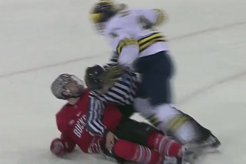 BIG10: Michigan/Ohio State Game Ends With Brawl