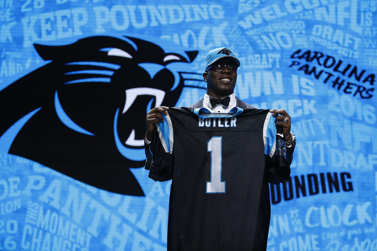 Jerseys NFL Sale - Panthers 3 Round Draft Class: Grading Gettleman - Cat Scratch Reader