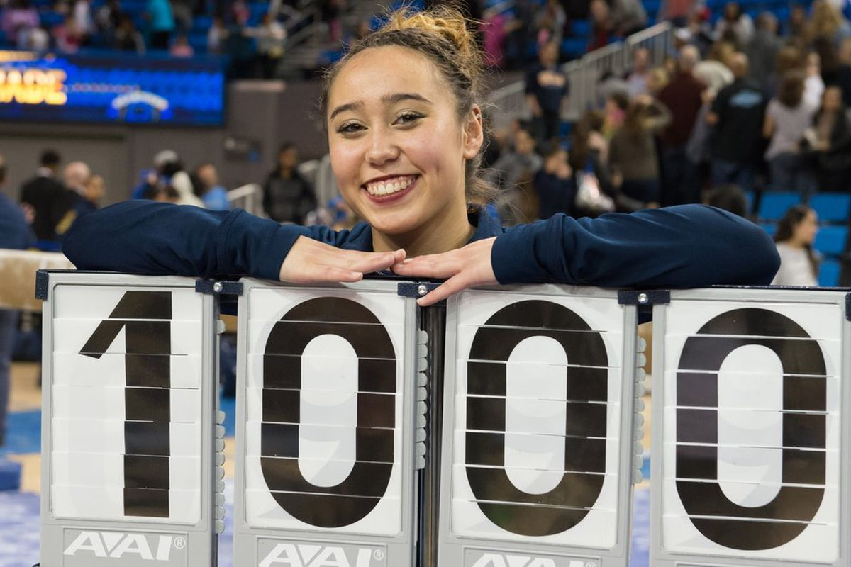 Katelyn Ohashi: #4 UCLA Gymnastics Takes On North Carolina In Final Meet