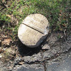 "Marker designating Ernie's ground as ""Path."""