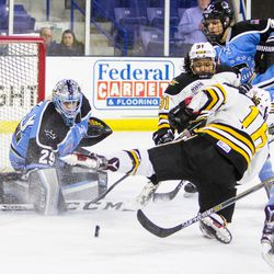 McLaughlin makes one of her nearly 60 saves in her MVP performance.