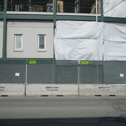 The single old concrete panel that had been left in place amidst the new construction has now been taken down