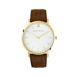 "Larsson & Jennings<a href=""https://www.eastdane.com/lugano-watch-larsson-jennings/vp/v=1/1555452926.htm?folderID=21587&colorId=31426"">Lader Watch</a>, $295"