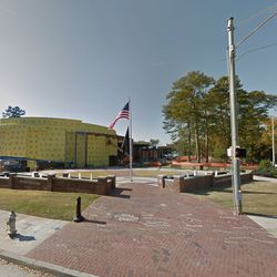 Now, that lawn is filled with the new home of the Atlanta Cyclorama, seen under construction in November.