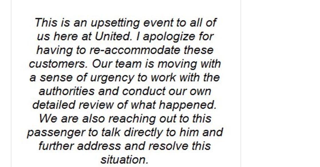 The ceo of united had an astonishingly bad apology for the the ceo of united had an astonishingly bad apology for the overbooking fiasco vox ccuart Choice Image