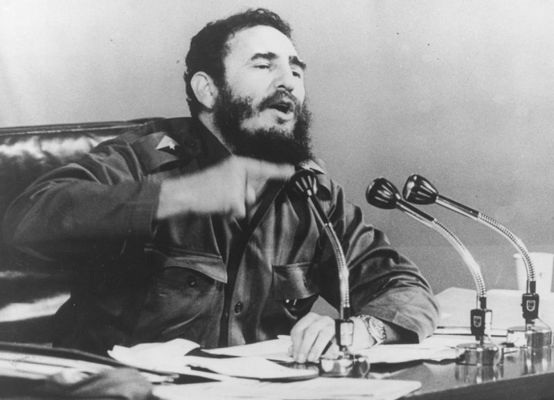 Fidel Castro giving a 1971 speech in Havana (Keystone/Getty Images)