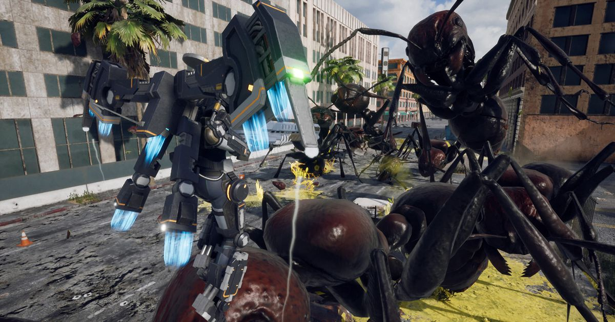 Iron Rain is a new style of Earth Defense Force