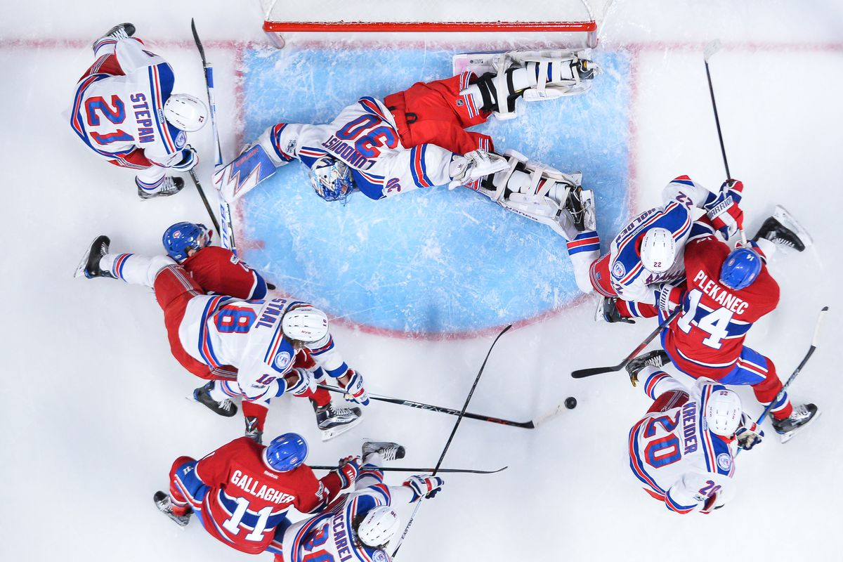 Canadiens' last-gasp effort falls short as Rangers draw even in series