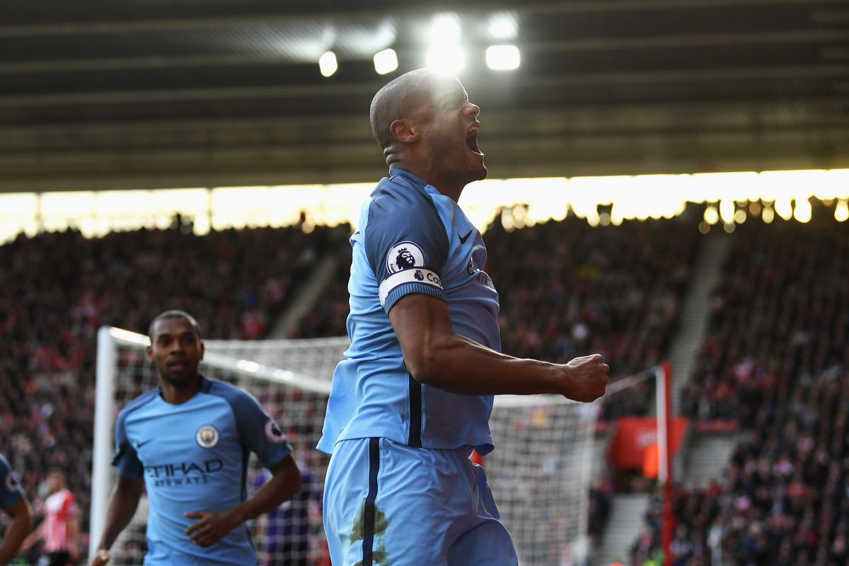 Relief for Manchester City goalscorer Vincent Kompany after injury nightmare
