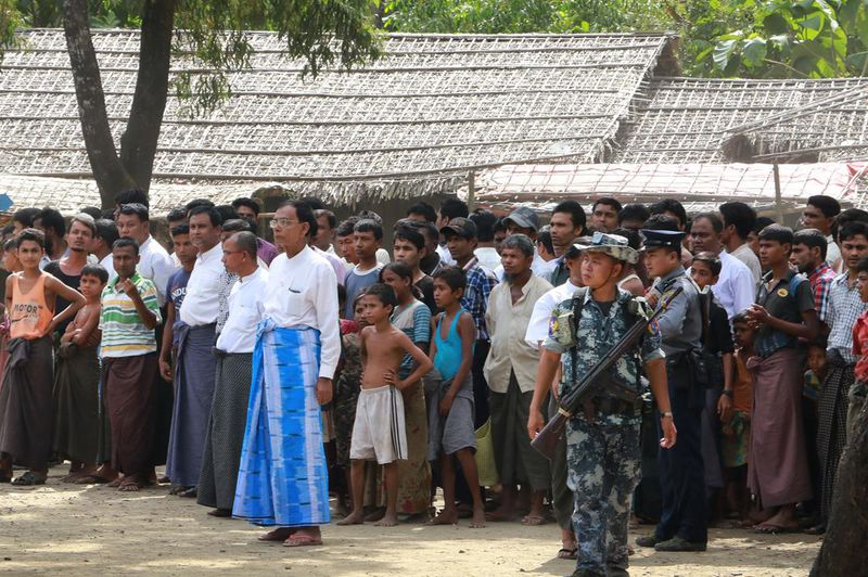 Rohingya villagers