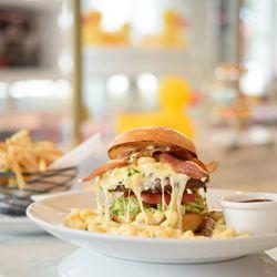 Big cheesy burger at Sugar Factory American Brasserie