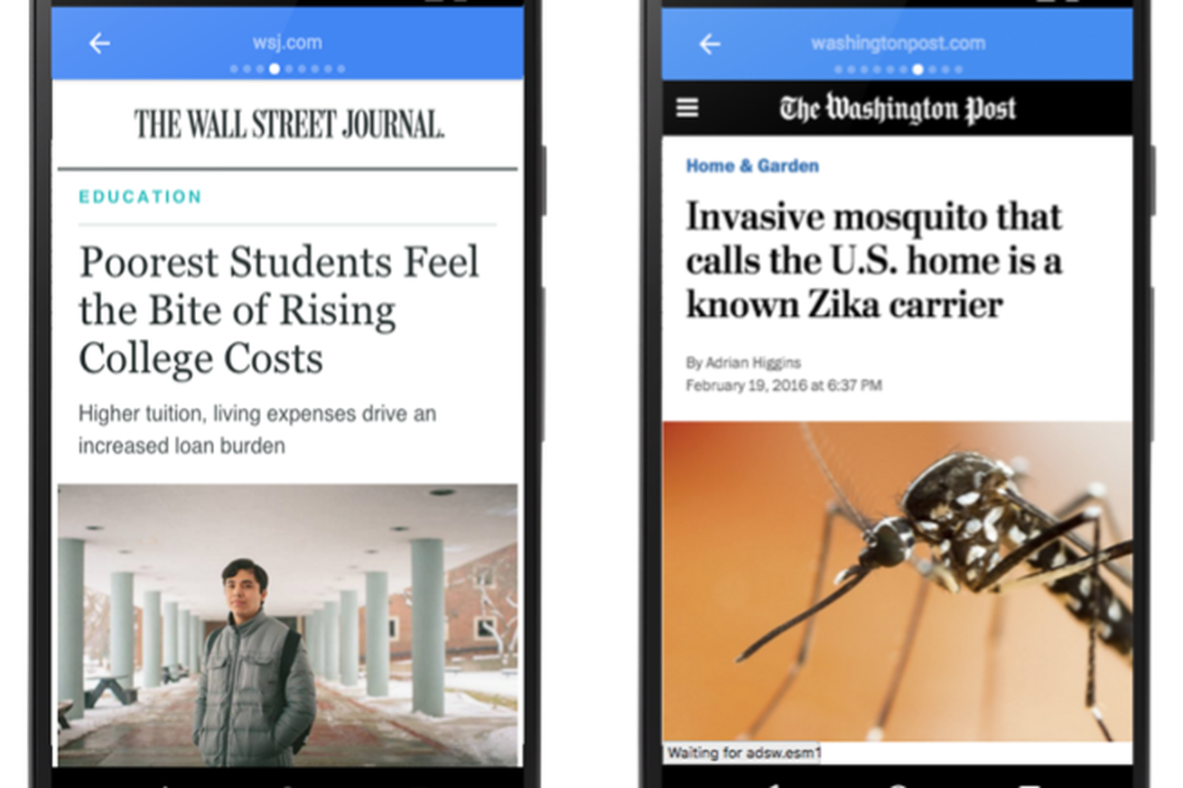 google s answer to instant articles now accounts for seven percent of traffic to big us publishers