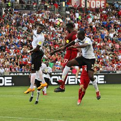 Jozy Altidore got a solid header, but it was right to the keeper.
