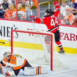 One of two of Wood's goals