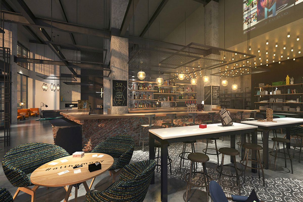 New renderings reveal river north s mysterious moxy hotel for River north boutique hotels