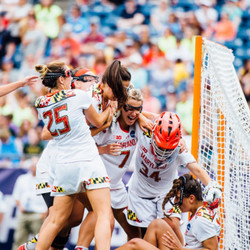 The Terps celebrate their win