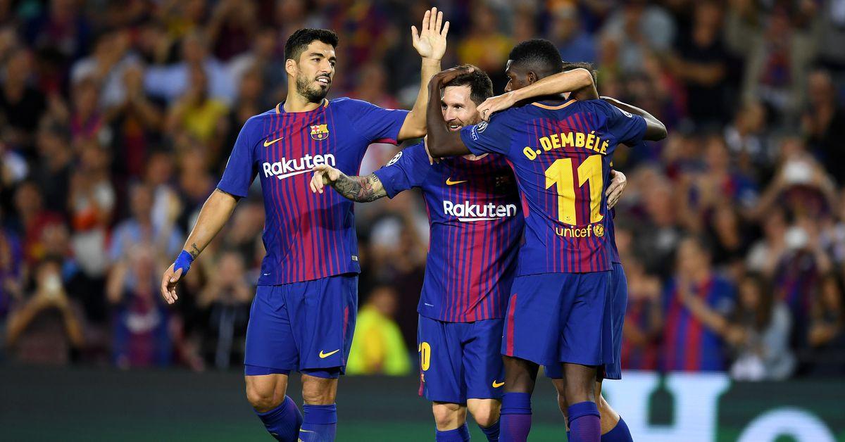 Lionel Messi scores twice as Barcelona dominates JuventusDouglas Costa - FC Barcelona - Gianluigi Buffon - Juventus FC - Lionel Messi - Luis Suárez - Medhi Benatia - Midfielder - Miralem Pjanić - Paulo Dybala
