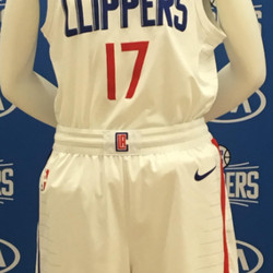 """FIRST LOOK: The Clippers' new white """"Association edition"""" jersey designed by Nike."""