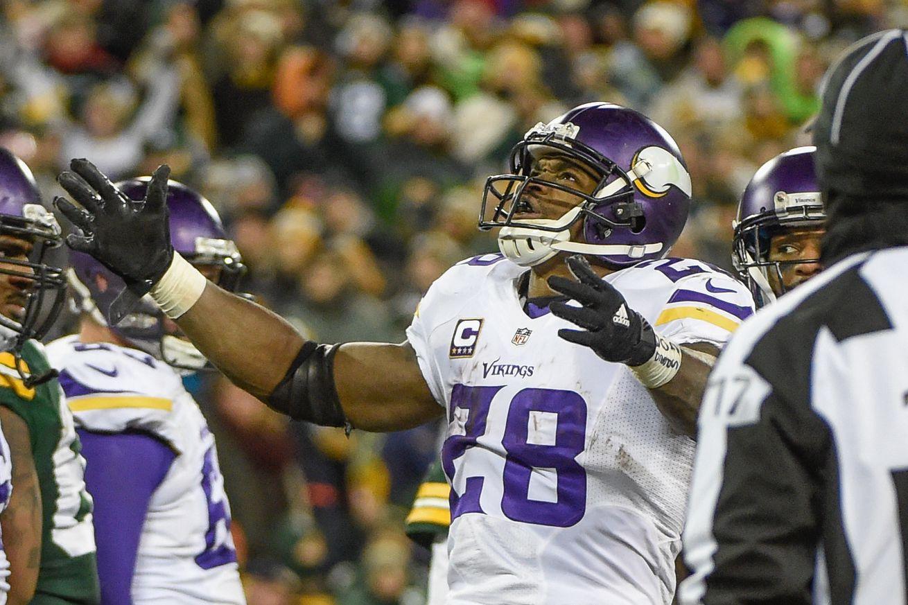 Pressure's on Peterson again, story of his Vikings career
