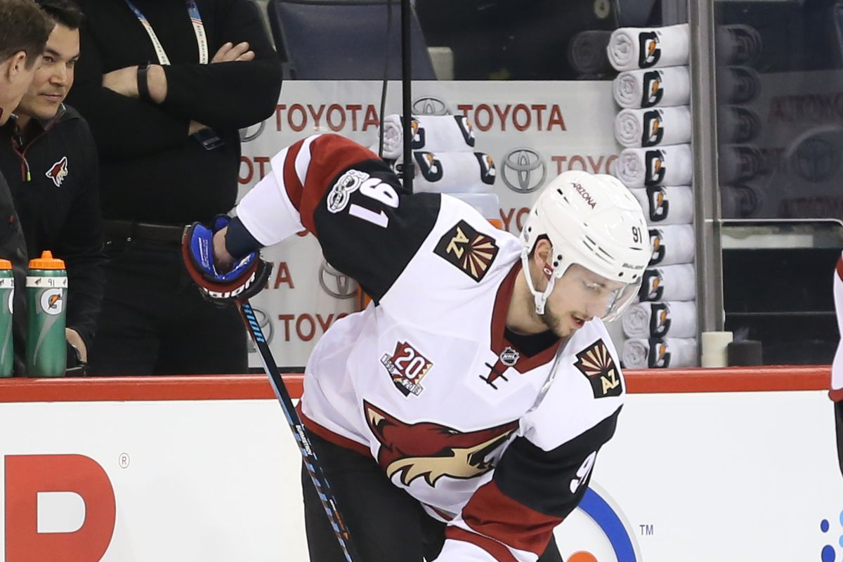 Coyotes C Alex Burmistrov injured, taken off on stretcher vs. Bruins