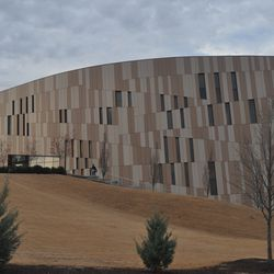 The view of the Center for Civil and Human Rights from the apartments.