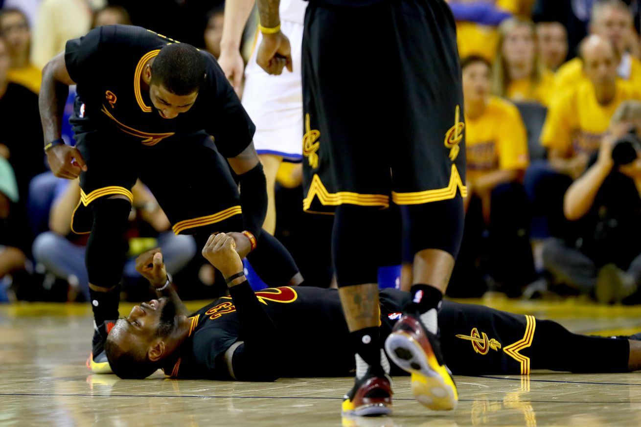 For a night, LeBron James and Kyrie Irving shut up their ...