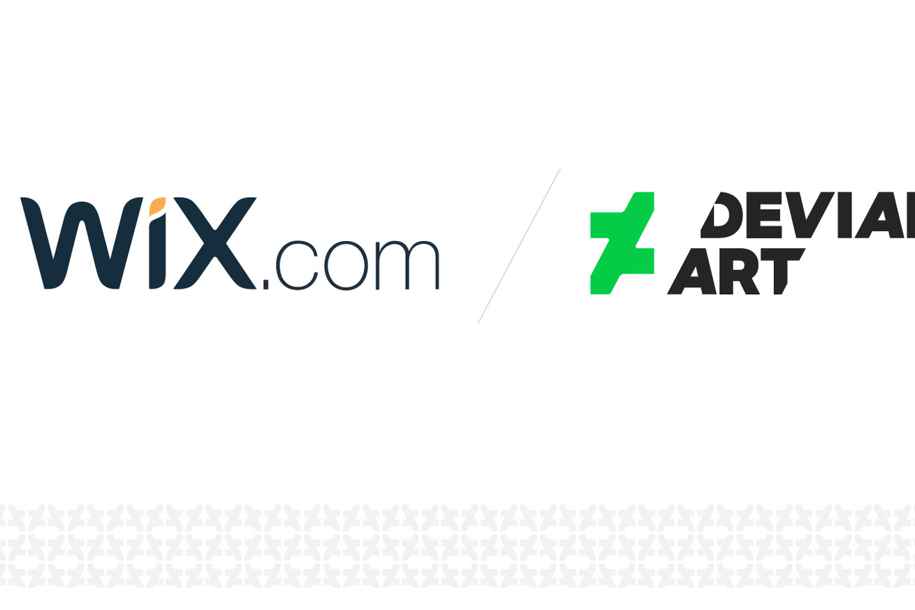 wix has acquired deviantart which may let artists license their work for the site builder