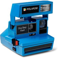 """Impossible Project <a href=""""https://www.mrporter.com/en-us/mens/impossible_project/polaroid-onestep-600-camera/867377"""">Polaroid One Step Camera</a>, $215"""